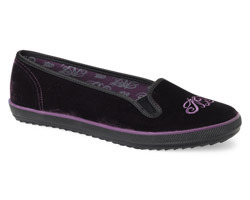 Nanette Lepore Mini Slip On Purple Velvet